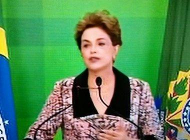 'Tem atitude comigo que não teriam contra um presidente homem', acusa Dilma Rousseff
