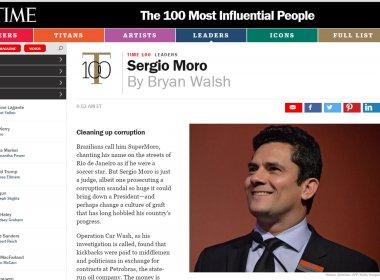 Juiz Sérgio Moro é incluído em lista dos 100 mais influentes da revista Time