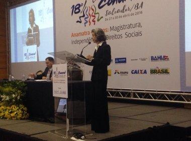 Durante evento em Salvador, Carmem Lúcia pede reforma no Judiciário