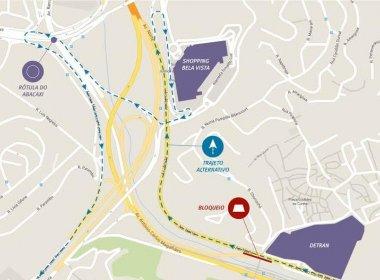 Obras do metrô fecham via de acesso à Rótula do Abacaxi por uma noite