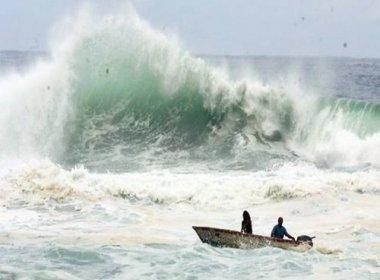 Marinha mantém alerta de ondas de até 2,5 metros entre Porto Seguro e Praia do Forte