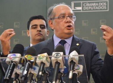 Gilmar Mendes diz que divulgação de pedido de prisão é 'brincadeira' com STF