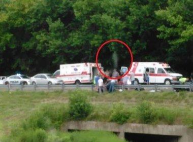 Foto registra 'espírito' saindo do corpo de vítima de acidente