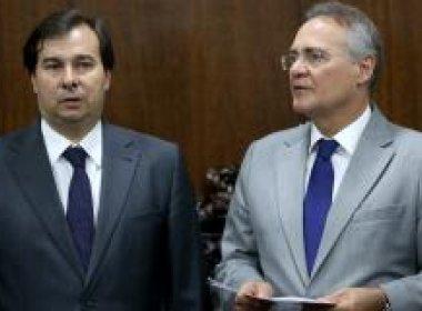 Renan Calheiros e Rodrigo Maia querem reduzir número de partidos