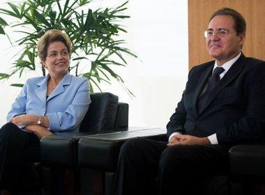 Após conversa, Renan diz que Dilma está 'muito bem e animada'