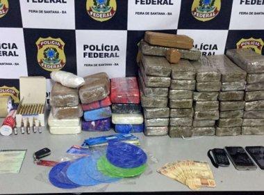 Feira de Santana: Operação da PF e PM prende 50 kg de droga em porta-malas