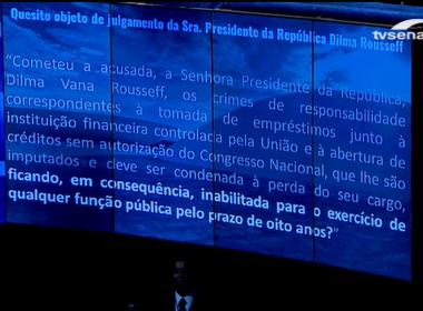 Senadores decidem que Dilma poderá exercer funções públicas