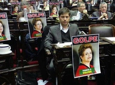 Deputado argentino organiza protesto contra impeachment de Dilma no Parlamento