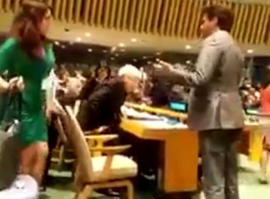DELEGAÇÕES DE SEIS PAÍSES ABANDONAM PLENÁRIO DA ONU EM DISCURSO DE TEMER