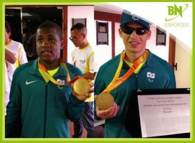 Jefinho e Cássio comemoram ouro paralímpico e pedem apoio ao futebol de 5