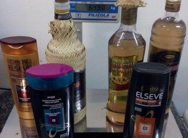 PF prende, em aeroporto de Salvador, mulheres com cocaína diluída em cachaça e shampoo