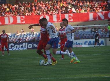 Bahia vacila nos minutos finais e cede empate para o CRB