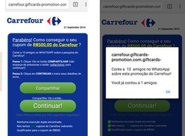 Falsa promoção de supermercado infecta mais de 8 milhões de celulares no Brasil