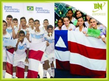 Bahia leva ouro e prata no futsal dos Jogos Escolares e técnico comemora