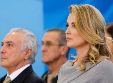 Marcela Temer fará sua primeira viagem internacional como primeira-dama