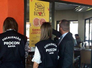 Pizzarias não podem cobrar maior valor em caso de sabores diferentes, alerta Procon-BA