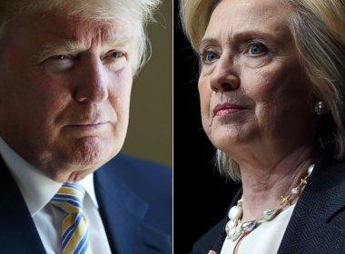 Hillary cai e Trump lidera em pesquisa eleitoral por um ponto percentual