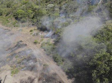 Incêndio já destruiu área equivalente a 350 campos de futebol na Bahia