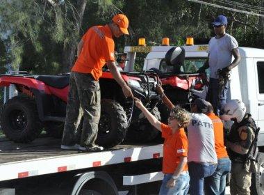 Detran faz ação educativa no litoral norte para evitar uso irregular de quadriciclos