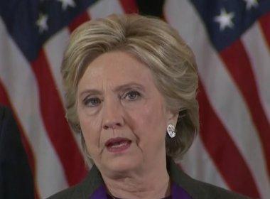 Em discurso após derrota, Hillary diz que 'nação está mais dividida do que pensávamos'