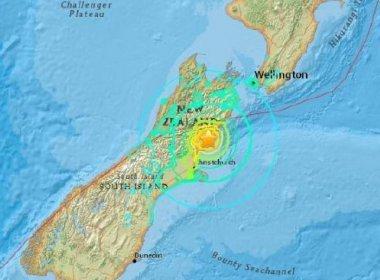 Nova Zelândia recebe terremoto de 5,8 graus de magnitude em réplica do tremor de domingo