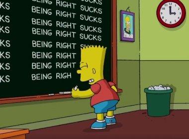 Simpsons 'se arrepende' de previsão sobre Trump como presidente: 'Estar certo é uma m...'