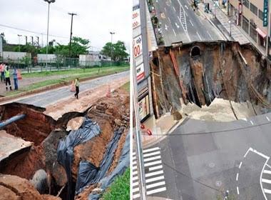 Bahia levou 111 dias para consertar cratera 'igual' à que Japão corrigiu em 1 semana