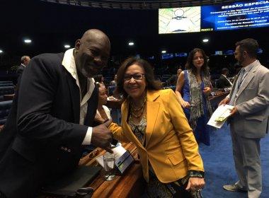 Lazzo é homenageado no Senado com a Comenda Senador Abdias do Nascimento