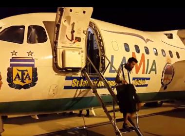Avião da Lamia tinha apenas 15 minutos de autonomia quando pousou com seleção argentina