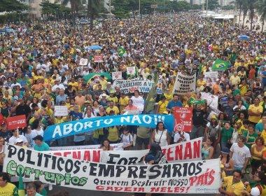 Manifestações em apoio à Lava Jato acontecem em todo Brasil; confira algumas praças
