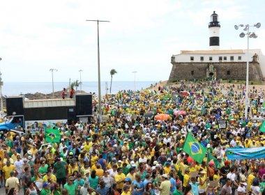PM estima 1,2 mil pessoas em protesto a favor da Lava Jato e contra corrupção