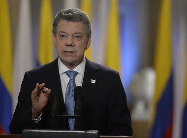 'Guerra terminou', diz presidente da Colômbia ao receber Nobel da Paz