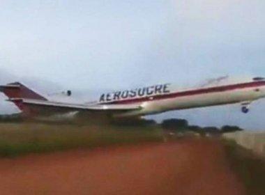 Cinco pessoas morrem em queda de avião de carga na Colômbia; apenas um sobreviveu