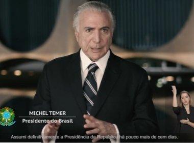 '2017 será o ano que derrotaremos a crise', diz Temer na TV na véspera do Natal; veja vídeo