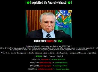 Site pessoal de Michel Temer é hackeado; página é administrada pelo PMDB