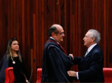 PRESIDENTE DO TSE GILMAR MENDES VIAJA COM O PRESIDENTE TEMER