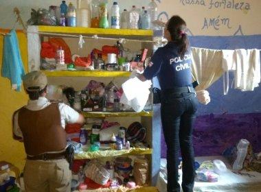 Operação em presídio de Feira de Santana apreende drogas, celulares e facas