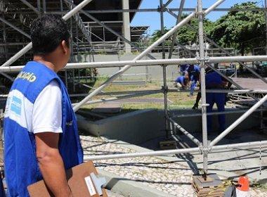 Sedur inicia vistoria de camarotes em montagem no circuito Barra-Ondina