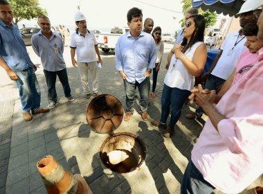 Rede de esgoto do Largo do Porto da Barra passará por intervenções a partir de segunda
