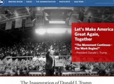 Após posse de Trump, site da Casa Branca elimina seções sobre clima, direitos civis e LGBT