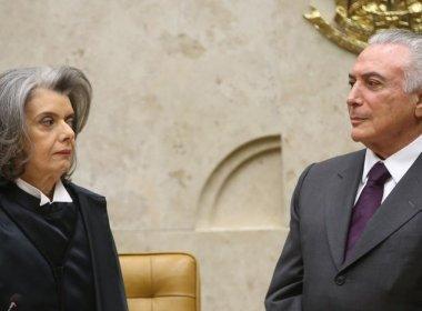 Temer quer indicação à cadeira de Zavascki que não desagrade Carmen Lúcia, diz coluna