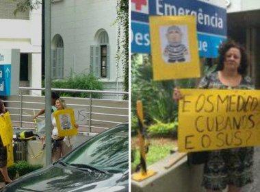 Grupo faz protesto e reivindica que Marisa Letícia seja internada em hospital do SUS