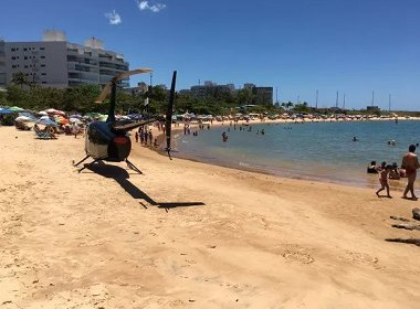 Vereador é preso em flagrante por pousar helicóptero em praia do Espírito Santo