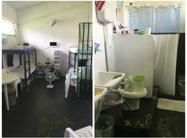 Imagens mostram celas onde estão presos Sérgio Cabral e a esposa Adriana Ancelmo