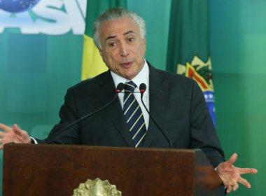 Temer quer que bancada do PMDB na Câmara indique novo ministro da Justiça