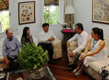 Rui almoça com empresários chineses e acompanha comitiva na Barra