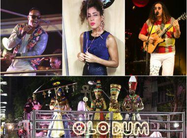 Olodum, Léo Santana, Moraes e Márcia Castro são destaques nesta terça de Carnaval