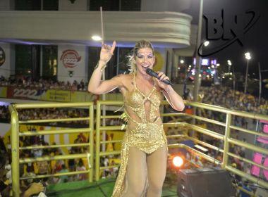 Viviane Trípodi anima foliões pipoca em trio independente no circuito Dodô