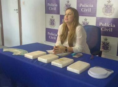 Draco apreende cocaína estimada em R$ 70 mil em parede de casa de traficante