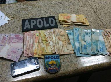 Traficante é preso em blitz por tentar subornar policiais com R$ 60 mil